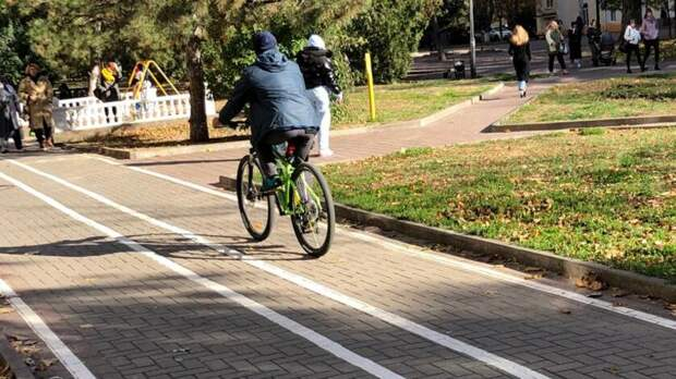 Велодорожку наПушкинской вРостове закончат втечение 10 дней