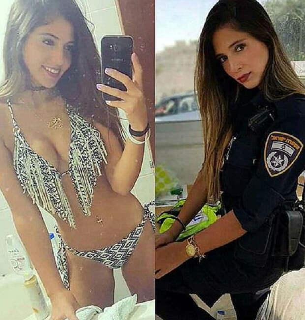 Пикантные снимки девушек в униформе — и без нее!