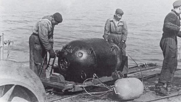 В Черном море у берегов Крыма обнаружена донная мина весом в тонну