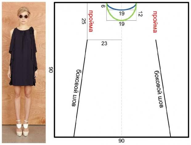 Быстрое и простое платье на Новый год