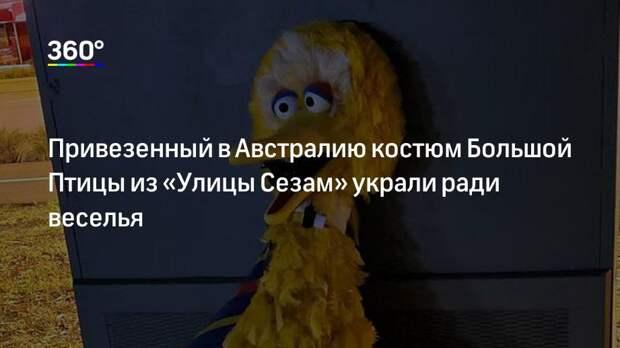 Привезенный в Австралию костюм Большой Птицы из «Улицы Сезам» украли ради веселья
