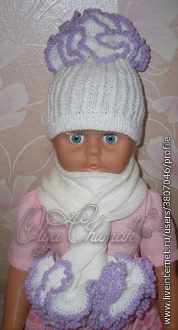 3. Шапка + шарфик.