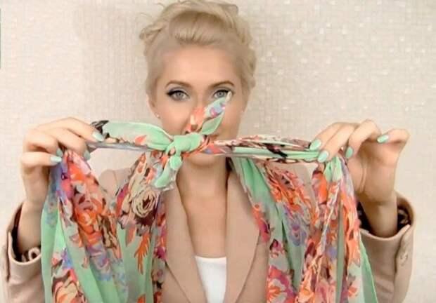 Как завязать шейный платок, чтобы выглядеть эффектно и стильно