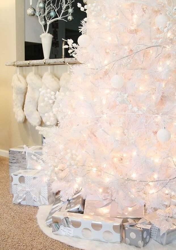 15 крутых способов украсить белую елочку