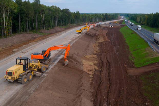 Реконструкция трассы М7 в Нижегородской области.