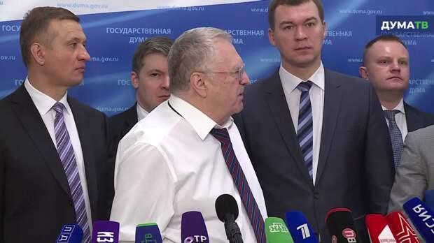 Жириновский: Не сметь отправлять на Евровидение певца, не признающего Крым!