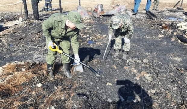 Останки 5 ребенка найдены под завалами сгоревшего дома под Нижним Тагилом