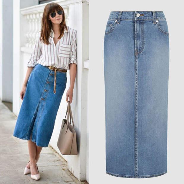 Модные джинсовые юбки: какие фасоны лучше носить в 20, 30 и 40+ лет.