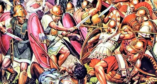 Натиск римской пехоты