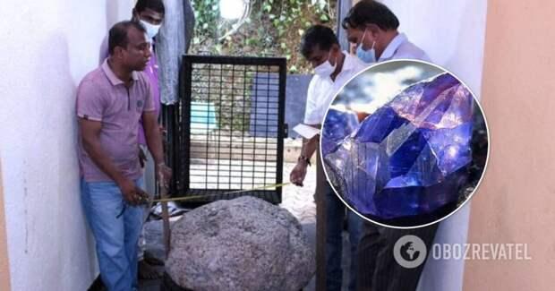 В Шри-Ланке нашли 500-килограммовый камень, состоящий из сапфиров