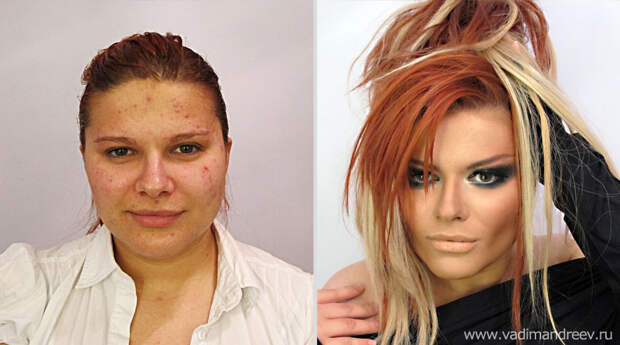 makeup19 Невероятно, но факт: визажист творит настоящие чудеса!