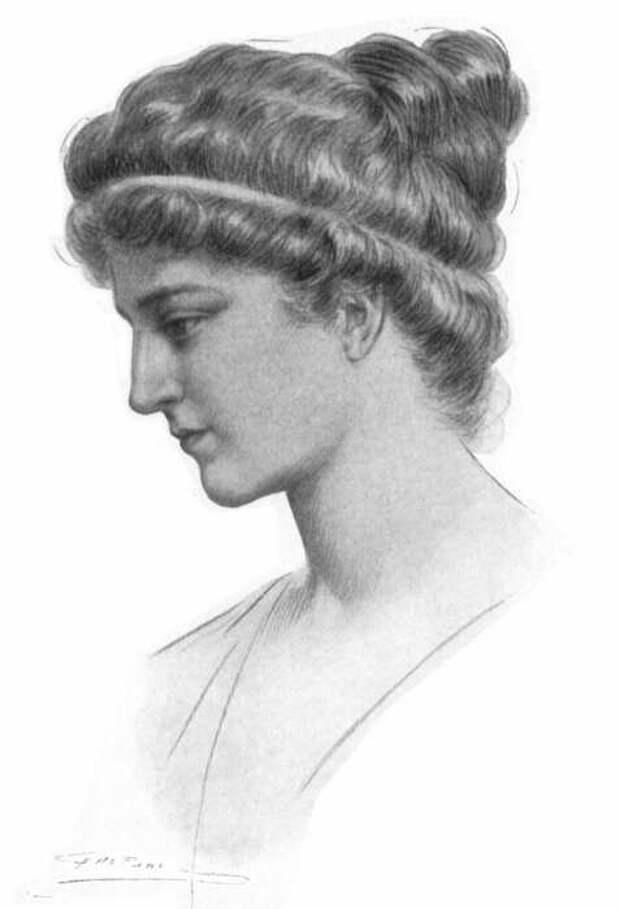 Портрет Гипатии, Жюль Морис Гаспар, 1908 год. \ Фото: impulsportal.net.