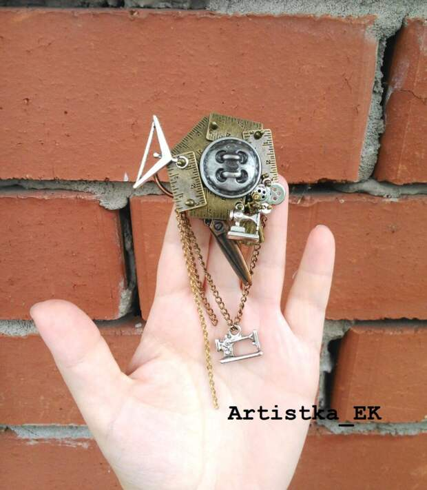 Швейная брошка от Artistka_EK