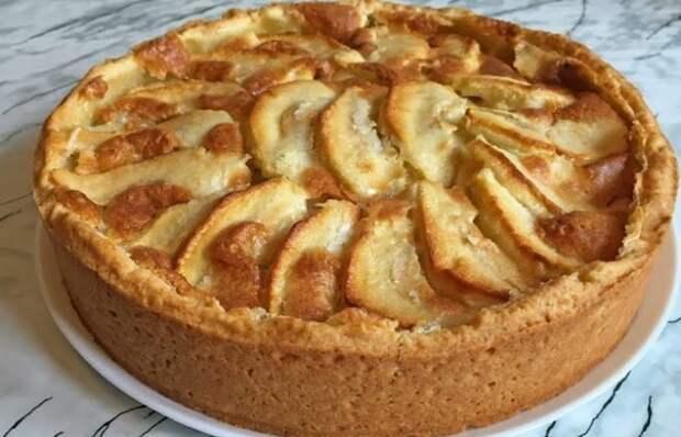 Обалденный заливной пирог с грушами