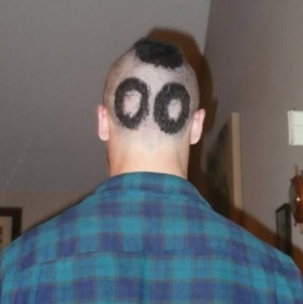 Причудливые и смешные стрижки и причёски (24 фото)