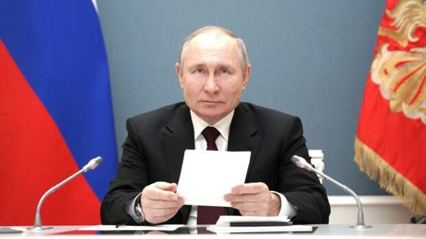 Путин заявил, что пандемия показала необходимость сотрудничества между странами