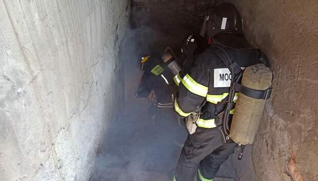 Пожарные Подольска начали четырехдневные занятия в теплодымокамере