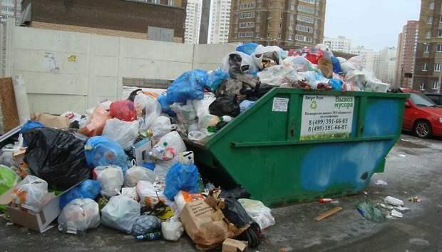 Навалы мусора выявили на контейнерных площадках Подольска