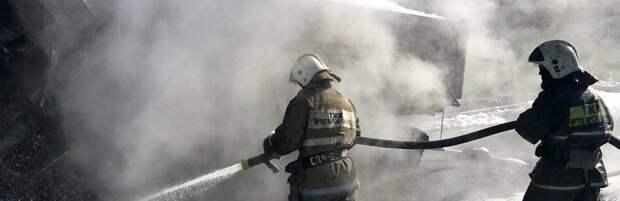 В Карагандинской области произошёл крупный пожар. Видео