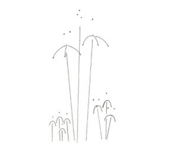 Вышиваем цветок ириса по схемам
