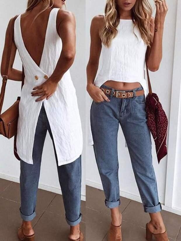 необычные детали блузки офисная мода