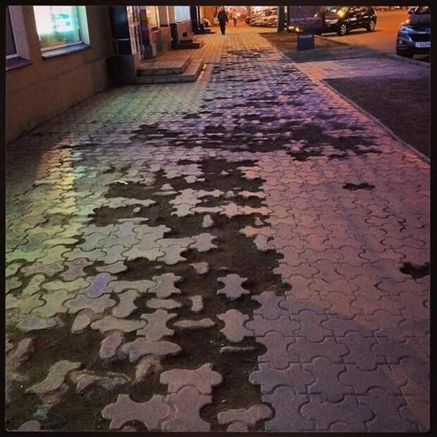 Омск асфальт, благоустройство, и так сойдет, и так сойдёт, тротуар
