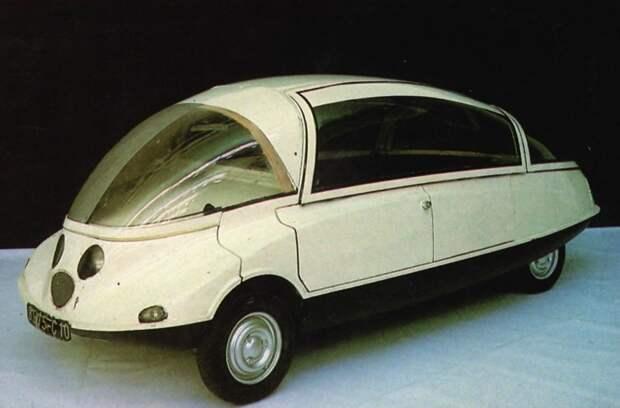 Citroen C-10 Coccinelle, концепт, 1956 автомир, аэродинамика, из прошлого, конструкция, обтекаемость. формы