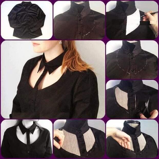 Крутые идеи обновления обычных рубашек и кофт