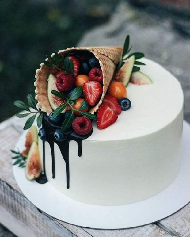 Тортик с вафельным рожком
