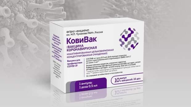 Стали известны сроки поставки третьей вакцины от COVID-19 «КовиВак» в Петербург