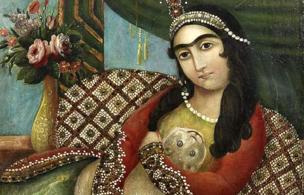 Каджарская живопись: окно в жизнь и моду мусульманских гаремов прошлых столетий.