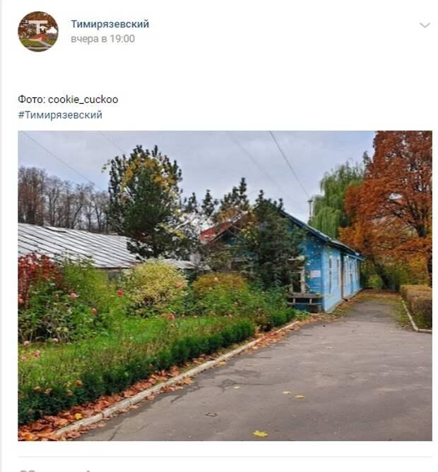 Фото дня: «домик в деревне» Тимирязевского