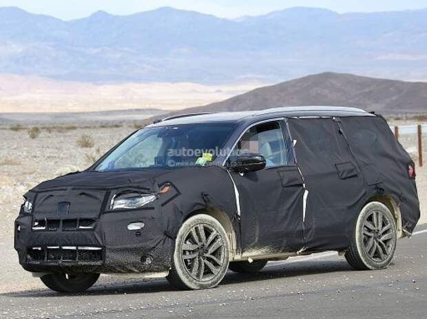 В пустынях Калифорнии замечен новый Honda Pilot