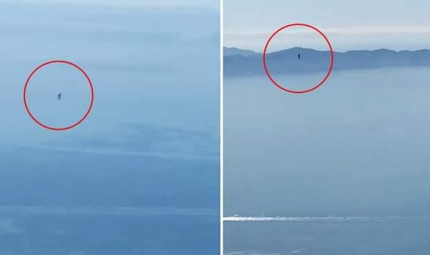 Пилот в Лос-Анджелесе наконец снял на видео загадочного «летающего человека»