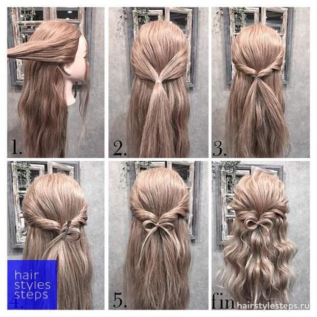 Огромнейшая подборка причесок для длинных волос с мастер классами
