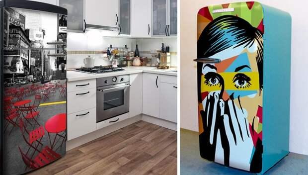 Никаких магнитов: яркий декор холодильника