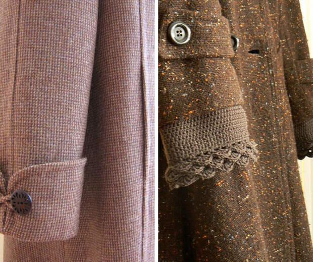 10 идей как удлинить рукава пальто