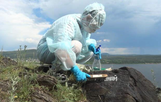 В центре Златоуста волонтеры убирают надписи с горы Косотур
