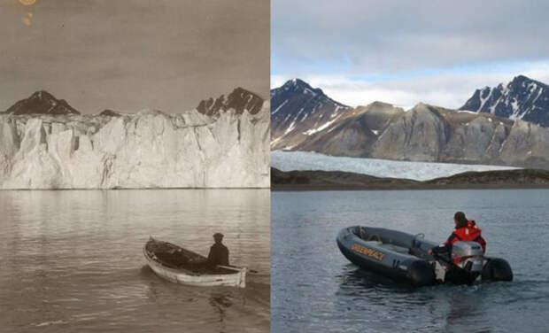 Как тает Арктика: впечатляющее сравнение кадровXX века исовременных
