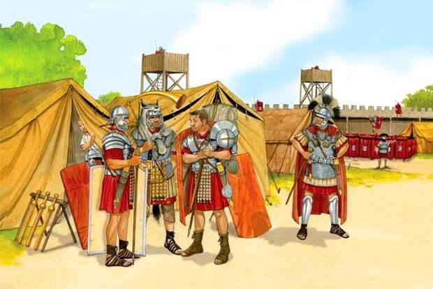 Почему римским часовым запрещалось иметь при себе щит?