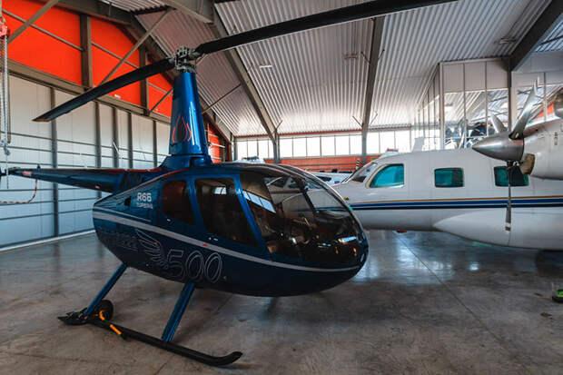 Из вертолетов самый популярный (15 единиц) — Robinson R44