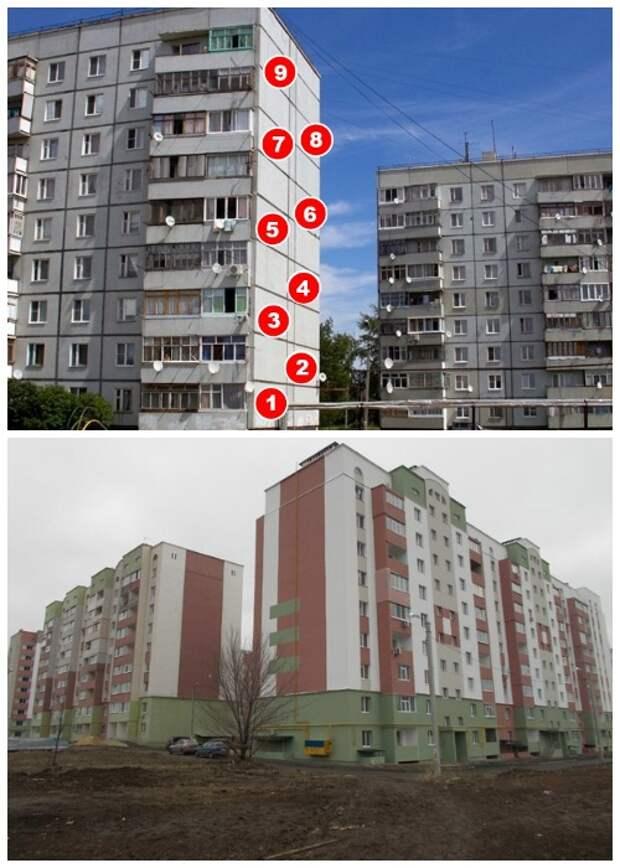 Во все времена 9-ти этажные жилые дома были в приоритете.