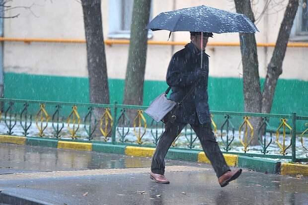 21 апреля в Москве и области продолжатся осадки в виде снега с дождем
