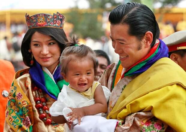 Король и королева Бутана