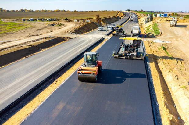Строительство дорог в России.