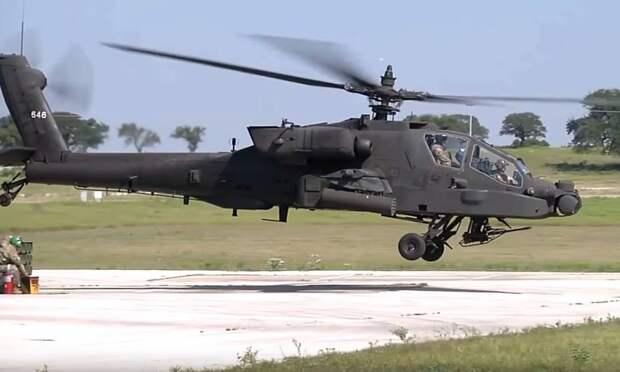 В Сети появилось видео с совместных учений вертолетов Ми-17 и Apache в Индии