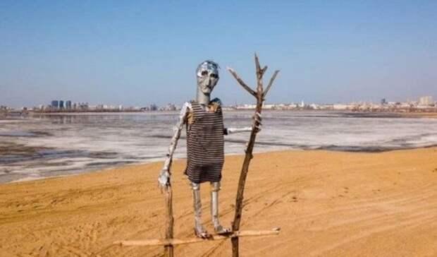 На берегу Казанки появился новый арт-объект