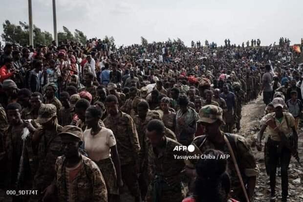 7500 пленных эфиопов прогнали по улицам столицы Тыграя