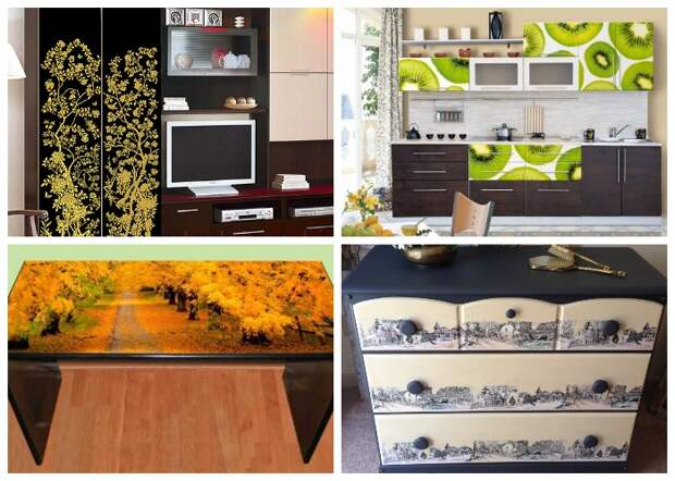 Интересные идеи кардинального изменения внешнего вида предметов мебели и бытовой техники. | Фото: nevsedoma.com.ua.