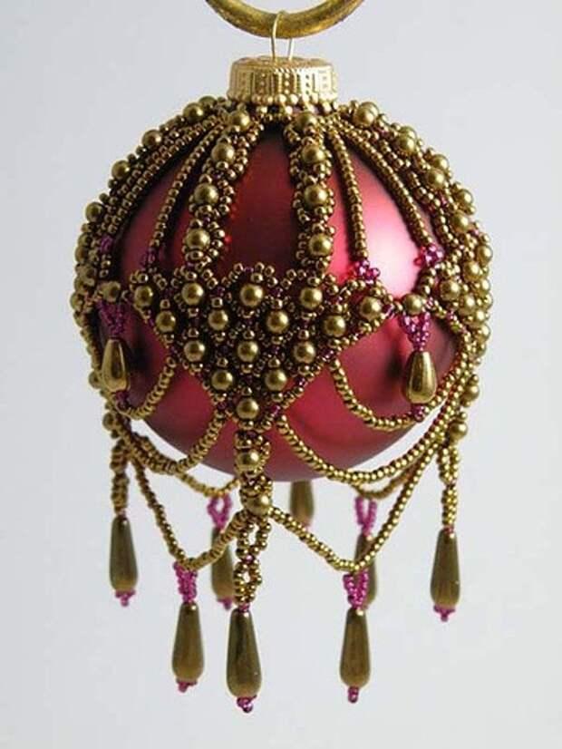 Елочные шары из бисера